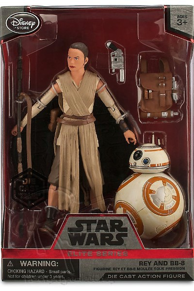 Hasbro Star Wars Elite Series Die Cast Rey and BB-8 Figure Set